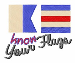 Know The Flags embroidery design
