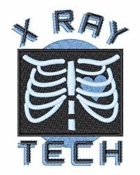 X-Ray Tech embroidery design