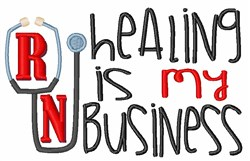 Healing Business embroidery design