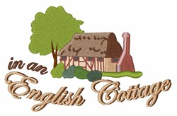 An English Cottage embroidery design