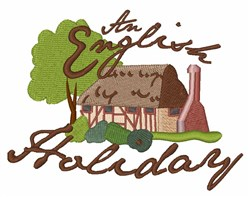 English Holiday embroidery design