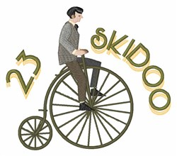 23 Skidoo embroidery design