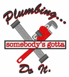 Plumbing Do It embroidery design