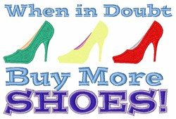 Buy More Shoes embroidery design