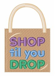 Shop Til Drop embroidery design
