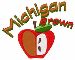 Michigan Grown embroidery design