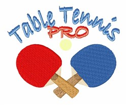 Ping Pong Paddles embroidery design