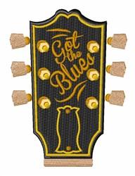 Guitar Head Stock embroidery design