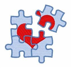 Puzzle Love embroidery design