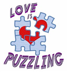 Puzzle Love embroidery design