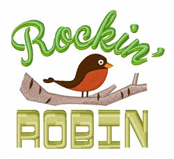Cartoon Robin embroidery design