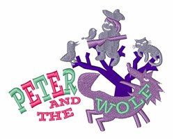 Peter & The Wolf embroidery design