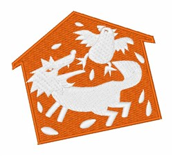 Wolf In The Henhouse embroidery design