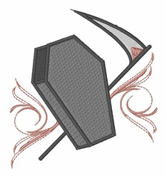 Vampire Coffin embroidery design
