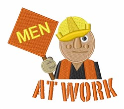 Construction Worker embroidery design