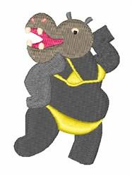 Bikini Hippo embroidery design