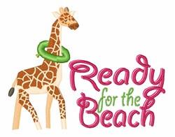 Swimming Giraffe embroidery design