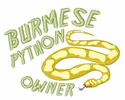 Yellow Python embroidery design