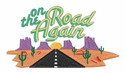 Southwest Highway embroidery design