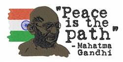 Mahatma Gandhi embroidery design