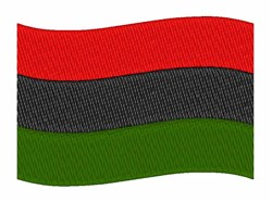 South African Flag embroidery design
