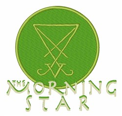 Morning Star Symbol embroidery design