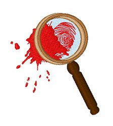 Detective Magnifying Glass embroidery design