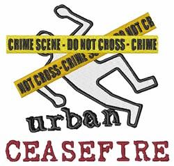 Crime Scene embroidery design