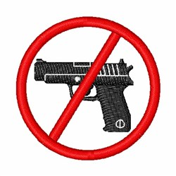 Gun Control embroidery design