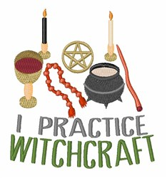 Wiccan Equipment embroidery design