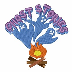Campfire Ghost Stories embroidery design