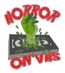 VHS Horror Tape embroidery design