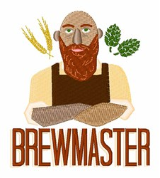 Brewmaster embroidery design
