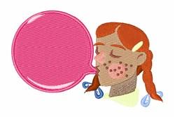 Bubble Gum Bubble embroidery design