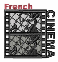 French Cinema Art embroidery design