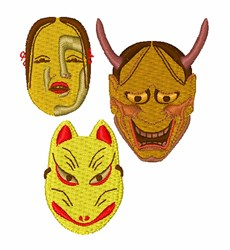 Japanese Mask embroidery design