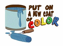 Paint Can & Roller embroidery design