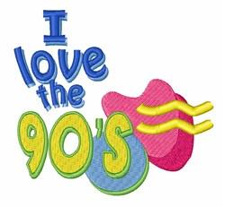 90s Retro embroidery design