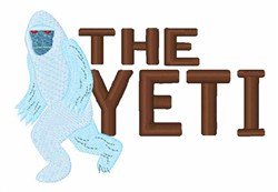 The Yeti embroidery design