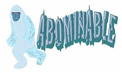 Abominable Yeti embroidery design