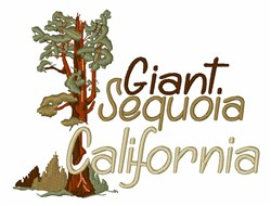 Giant Sequoia embroidery design