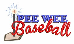 Pee Wee Baseball embroidery design
