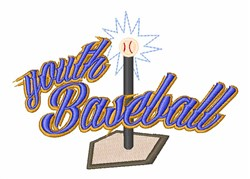 Youth Baseball embroidery design