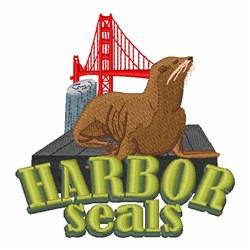Harbor Seals embroidery design