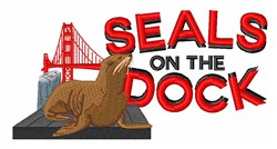 Seals On Dock embroidery design