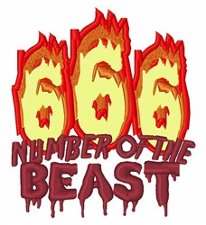 Number Of Beast embroidery design