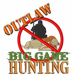 Big Game Hunting embroidery design
