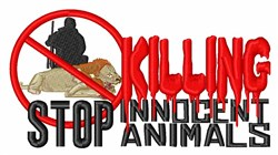 Stop Killing Animals embroidery design