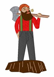 Logger embroidery design