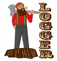 Logger Man embroidery design